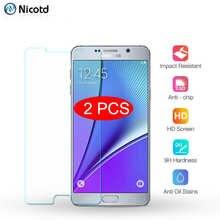 2 шт. закаленное стекло для Samsung Galaxy Note 5 4 3 2 защита для экрана для Galaxy S7 S6 S5 S4 S3 S2 защитная пленка на i9220 i9200