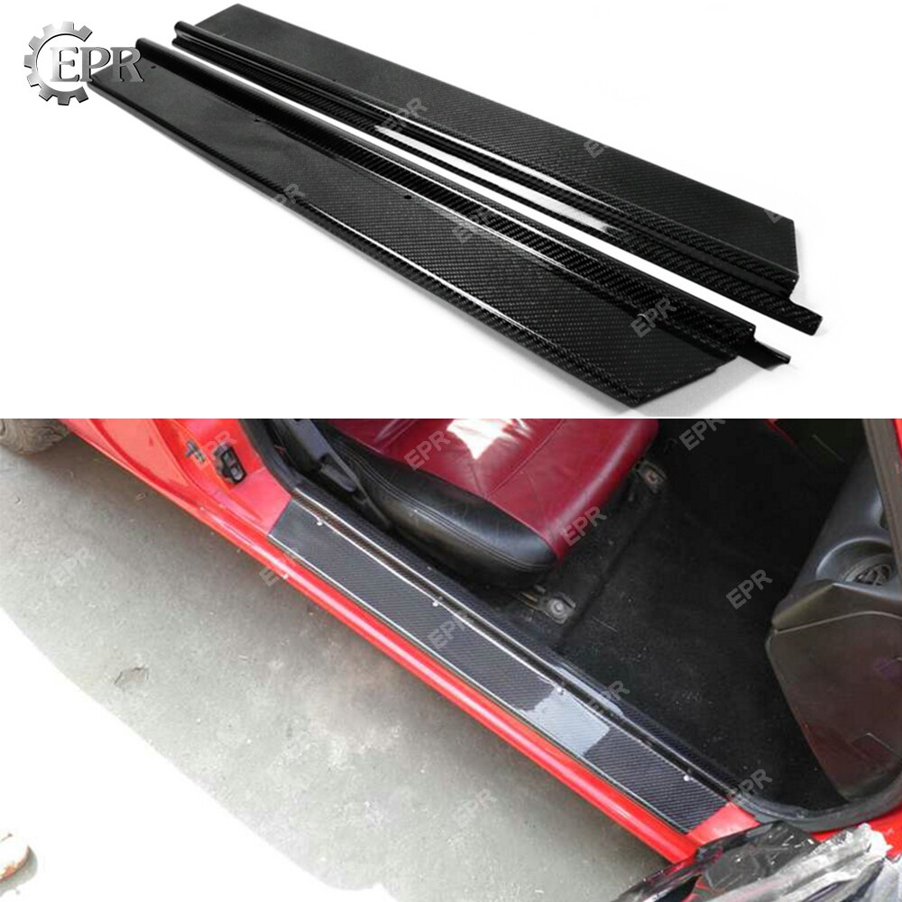 Para Mazda MX5 NA MK1 Miata, fibra de carbono interior para alféizar de puerta lateral, Kit de carrocería de ajuste de parte embellecedora, 2 uds
