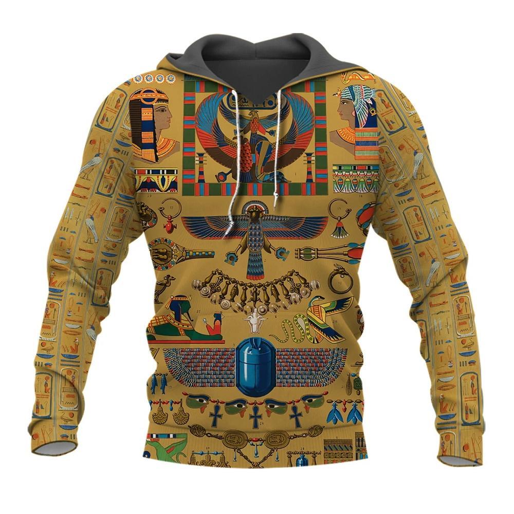 PLstar universo misterioso retro Antiguo Egipto Faraón tótem 3d sudaderas con capucha/sudadera invierno otoño divertido largo selvee streetwear-6