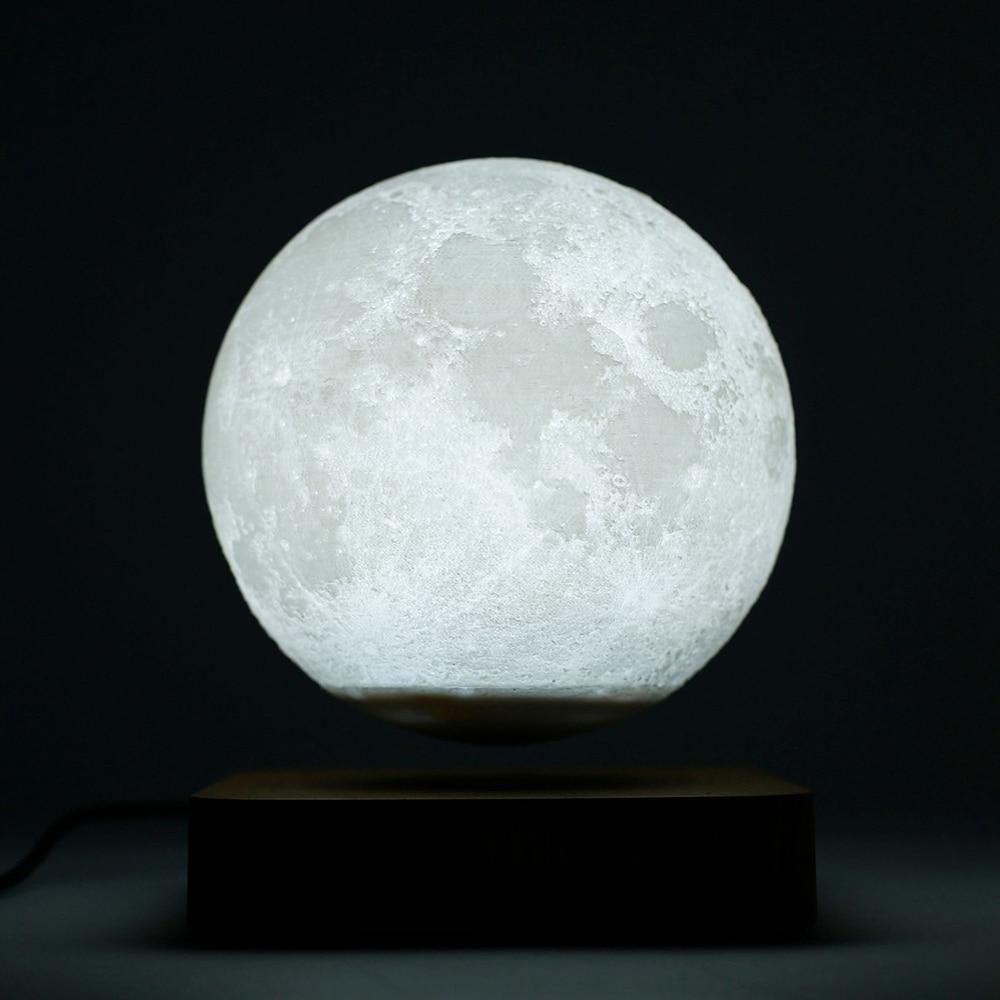 LED Moon Light 3D Magnetic Levitation Lamp Novelty Lighting Floating Lamp Levitating Light Night Light Touch Dimmable Decor Lamp