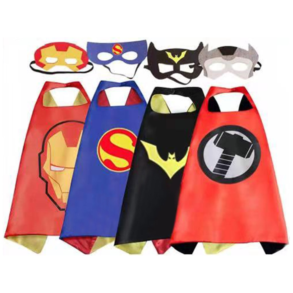 Children's Anime Cosplay Costume Superhero Capes Pretend Play Birthday Party Halloween Personalized
