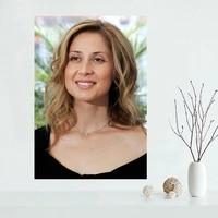 Affiche personnalisee Lara Fabian  decoration de maison  en toile  a la mode