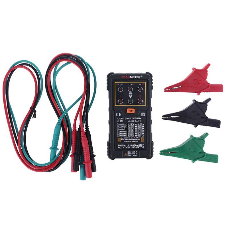 جهاز اختبار تسلسل المرحلة MS5900 120V-400VAC, مزود بمؤشر دوران ثلاثي الطور