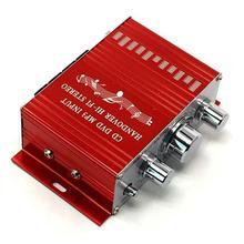 Mini amplificateur de voiture 12V   Moto bateau, Auto stéréo, Audio, 2 canaux, numérique, Hi-Fi, Support, CD DVD, haut-parleur MP3