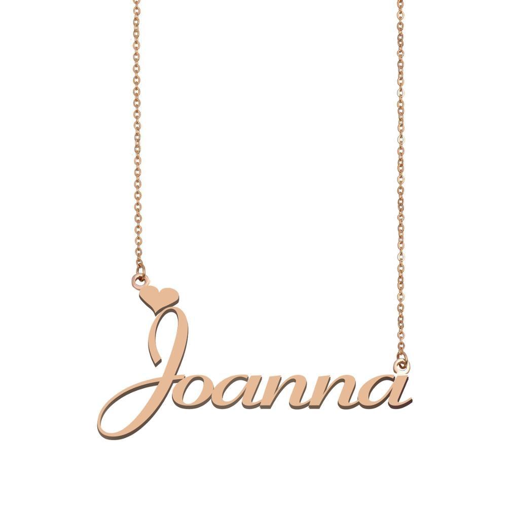 Collar con nombre de Joanna, collar con nombre personalizado para mujeres, chicas, mejores amigas, cumpleaños, boda, Navidad, regalo del Día de la madre