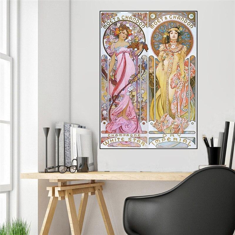 Alphonse Mucha Vintage Illustration toile affiches et impressions décoratives Art Nouveau toile peintures mur Art Piuctures affiche