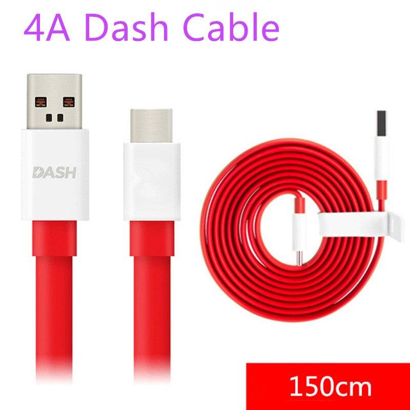 4A Dash Cable de carga USB C/tipo-C de transferencia de datos de cables de sincronización de 150cm Cable tallarín para Oneplus 1 + 7 pro 6 3t 3 5 5T