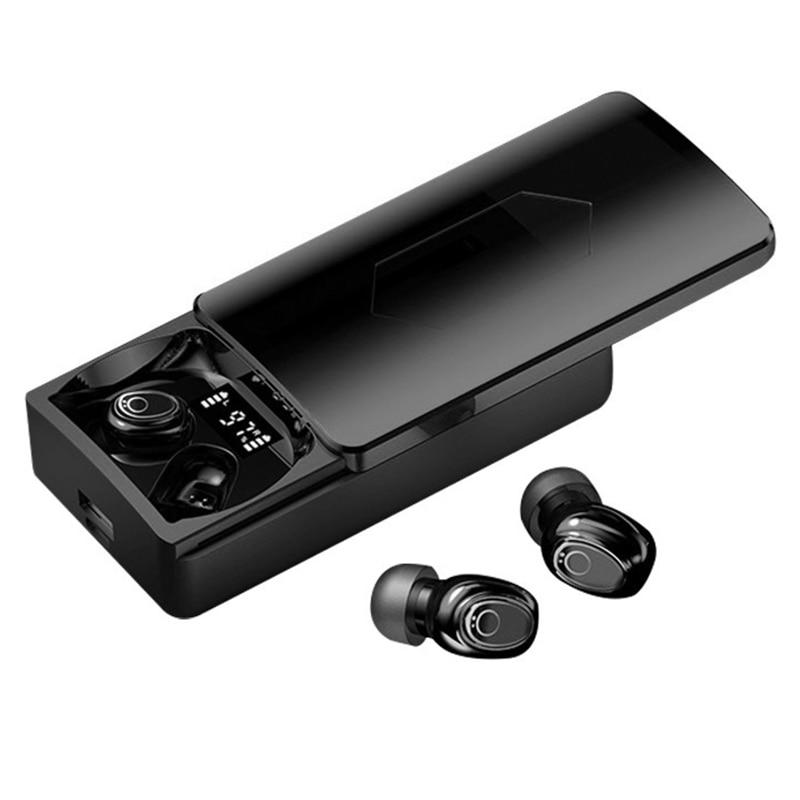 Fones de Ouvido sem Fio Fones de Ouvido Fones à Prova Caixa de Carregamento Bluetooth Esportes In-ear Estéreo Dwaterproof Água 10000mah Tws 5.0