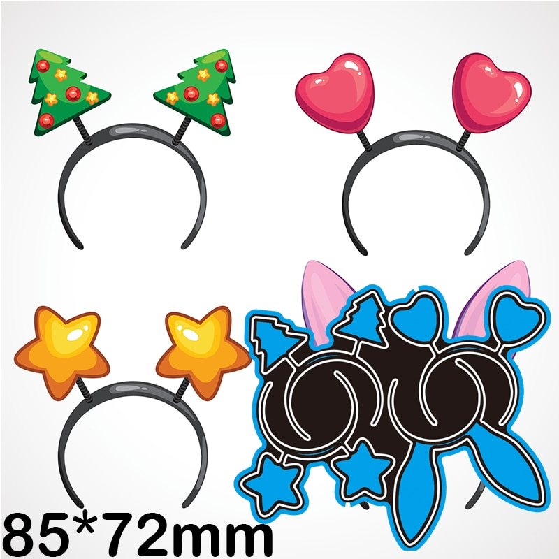 85*72mm Christmas Decoration Hair Hoops Metal Dies New Stencils DIY Scrap booking Paper Cards Craft Making Craft Decoration