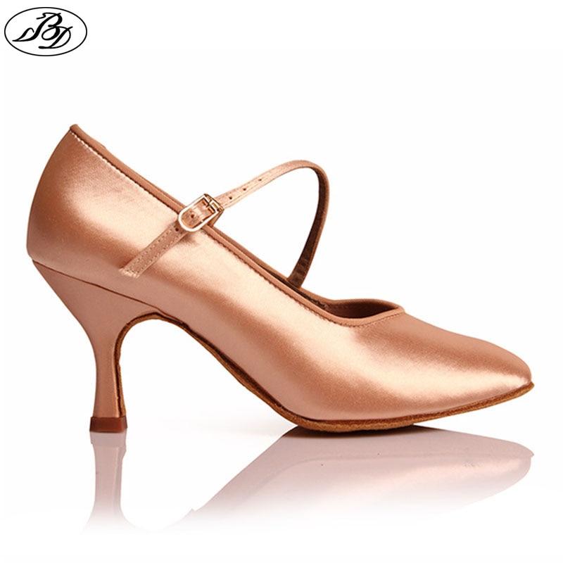 Высокий каблук Обувь Dancesport 138, классическая женская Обувь для бальных танцев Мягкая подошва, атласная