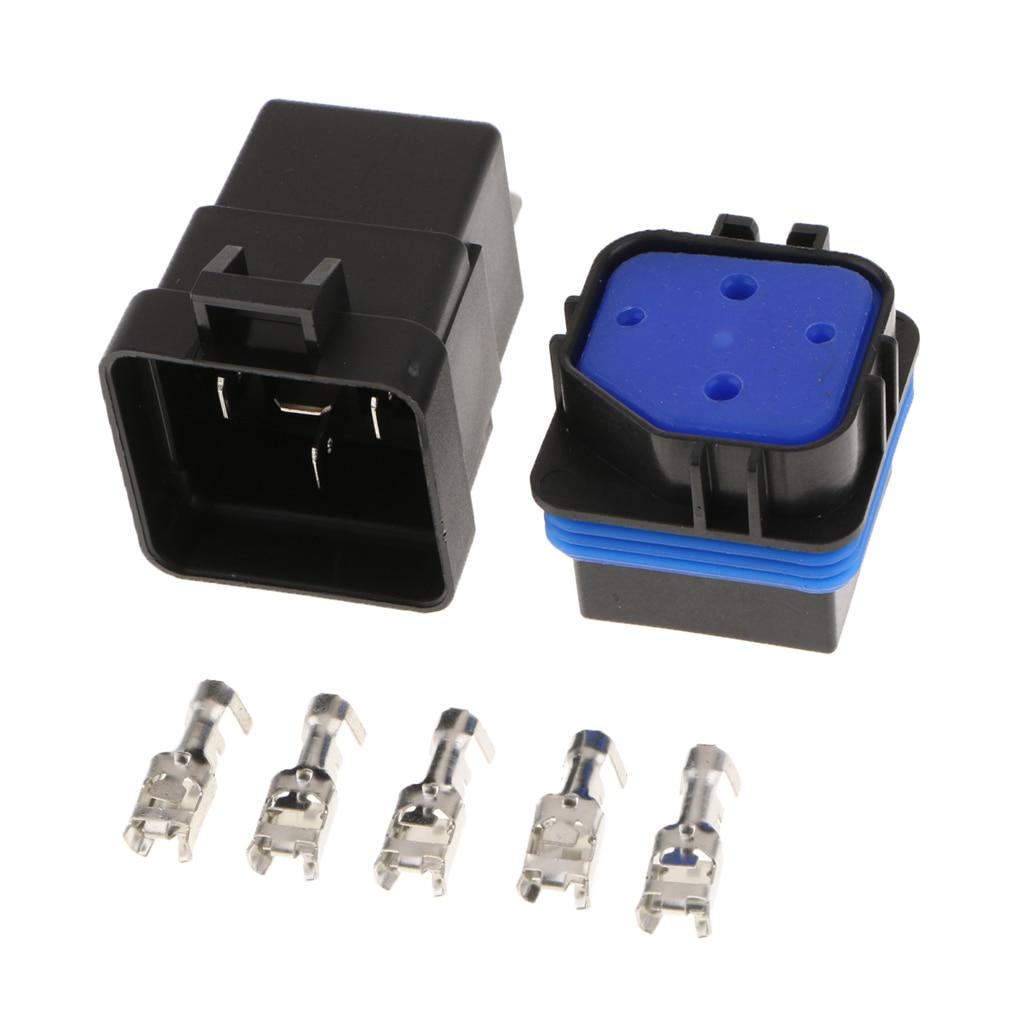 Relé para automóvil DC12V 5Pin 40A impermeable integrado relé para automóvil y enchufe