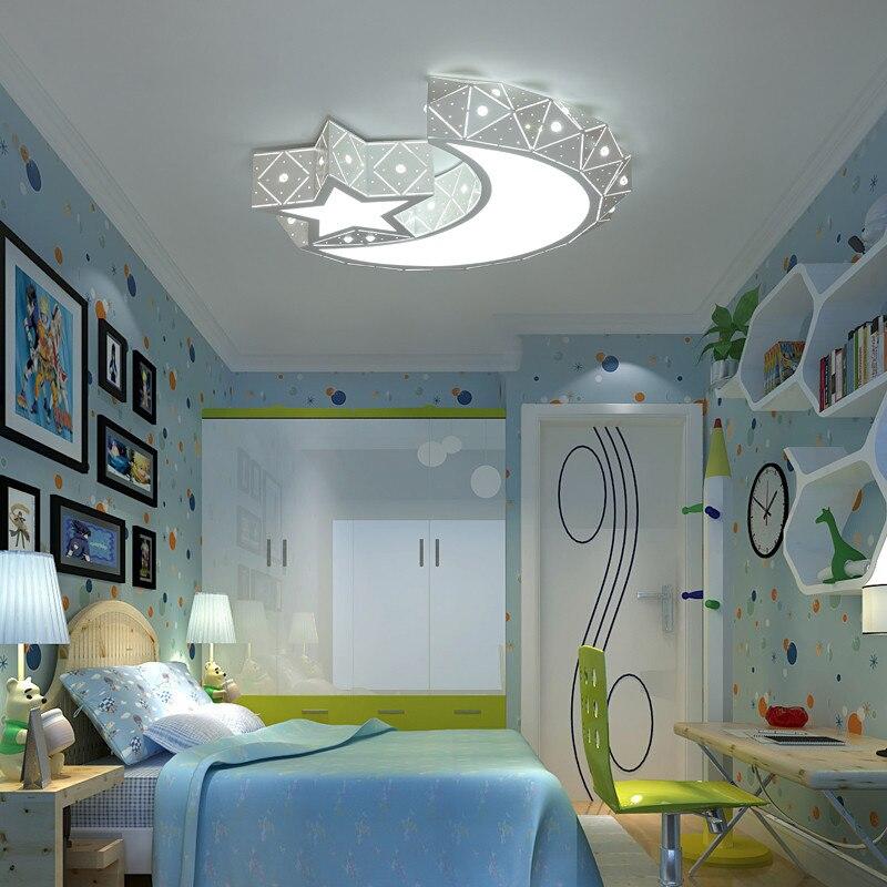 مصباح سقف Led على شكل نجمة ، مصباح سقف على شكل قمر ، مصباح سقف لغرفة النوم ، مصباح سقف غرفة الأطفال ، مصباح سقف Led للأولاد والبنات