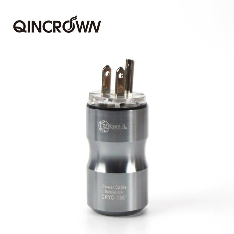Alta fidelidade qincrqwn metal ródio-chapeado plugue de energia congelada alta fidelidade padrão americano krell segunda geração de plugue de energia