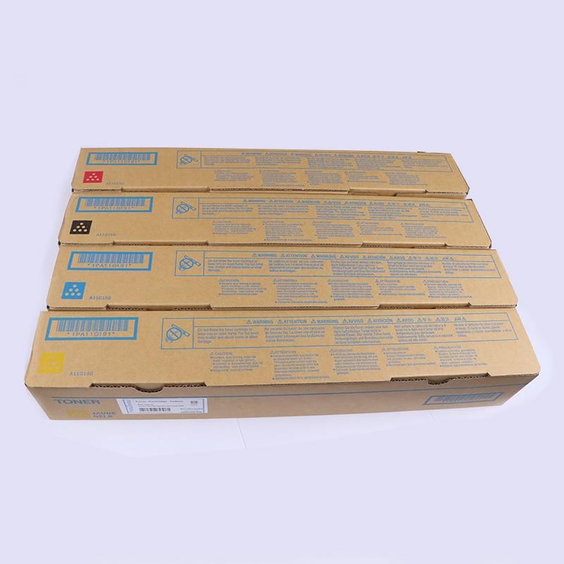 TN-221 الأصل المعاد CMYK الحبر خرطوشة ل كونيكا مينولتا Bizhub C227 C287