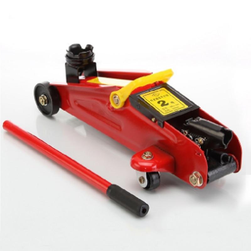 2ton doméstico pequeno jack auto sedan manual de levantamento piso hidráulico jack roda suporte reparação automóvel pneu ferramenta