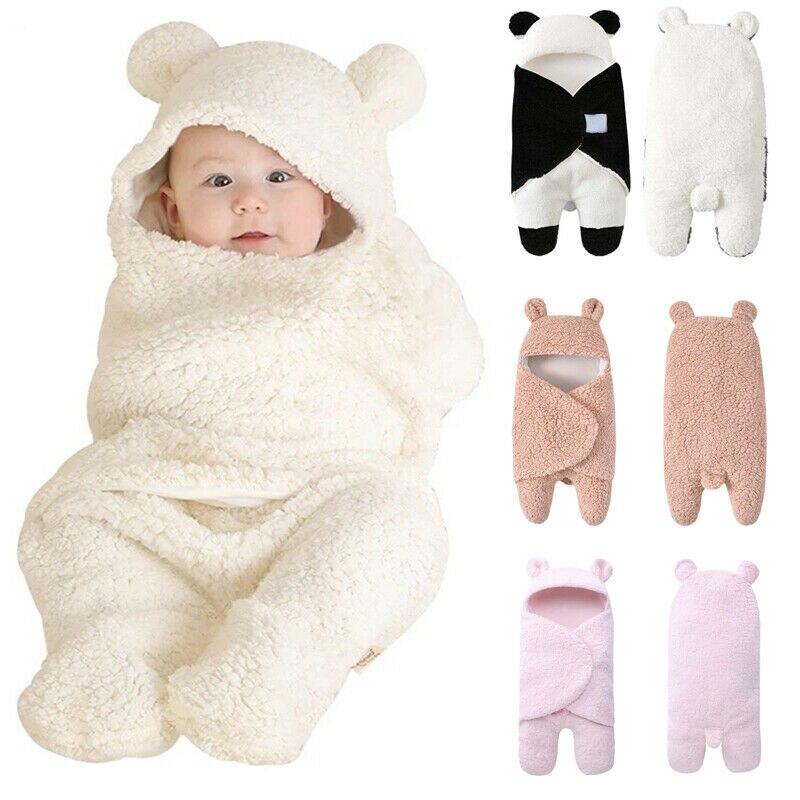 bebe recem nascido meninas meninos inverno velo quente saco de dormir algodao cor