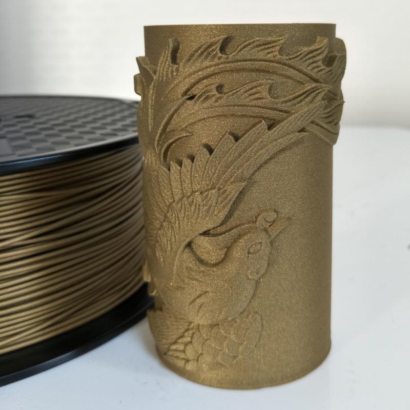 خيوط طابعة ثلاثية الأبعاد PLA ، 1.75 مللي متر ، 0.5 كجم ، مواد طباعة ، لون ذهبي ، فضي ، نحاسي ، برونز بلوري ، برونز معدني ، 500 جرام