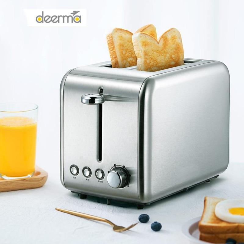 شاومي ديرما آلة الخبز الخبز الكهربائية محمصة المنزلية التلقائي الإفطار نخب ساندويتش صانع إعادة تسخين المطبخ شواء فرن