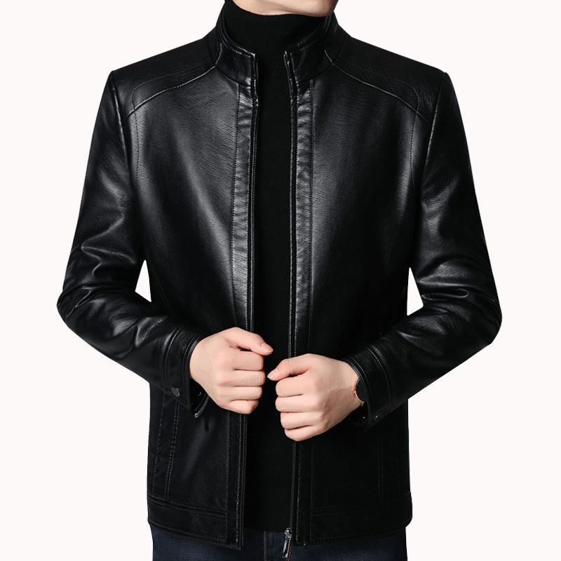 Brand Men Jacket 2020 New Spring Fall Soft Leather Jackets For Man Clothing Long Sleeves Coat Fashio