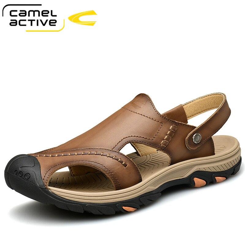 Camel Active New High Quality Summer Soft Light Comfortable Men sandals Shoes Outdoor Beach Plus Big Size Casual Non-Slip shoe