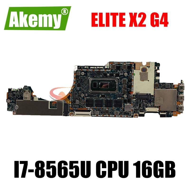 Akemy LA-G931P материнская плата для HP Elite x2 G4 материнских плат для ноутбука с i7-8565U Процессор 16 Гб Оперативная память тест 100% ОК
