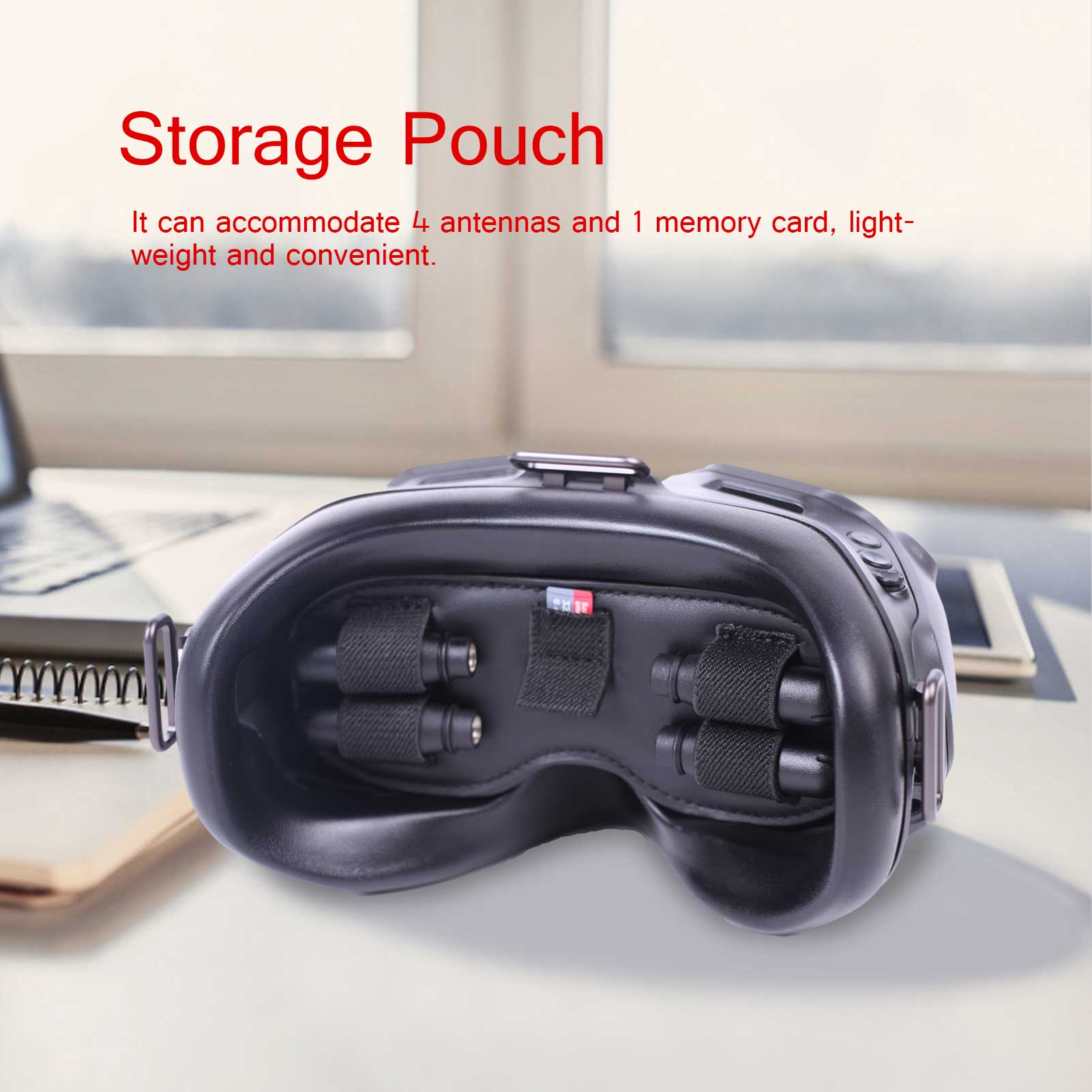 3 In 1 DJI Storage Mat Pad For DJI FPV Flying Glasses V2 Goggles Dust-proof Light-proof Storage Cover Accessories For DJI FPV