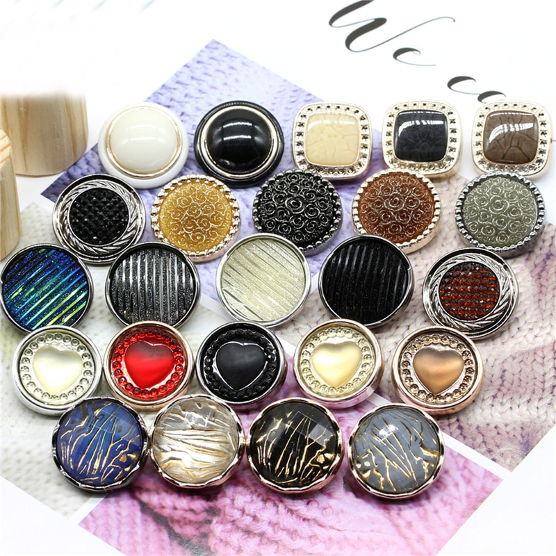 5 unids/lote 18-30mm Color-encruzado nacarado botón blusa chaqueta traje rompevientos ropa de alta calidad botones redondos C109