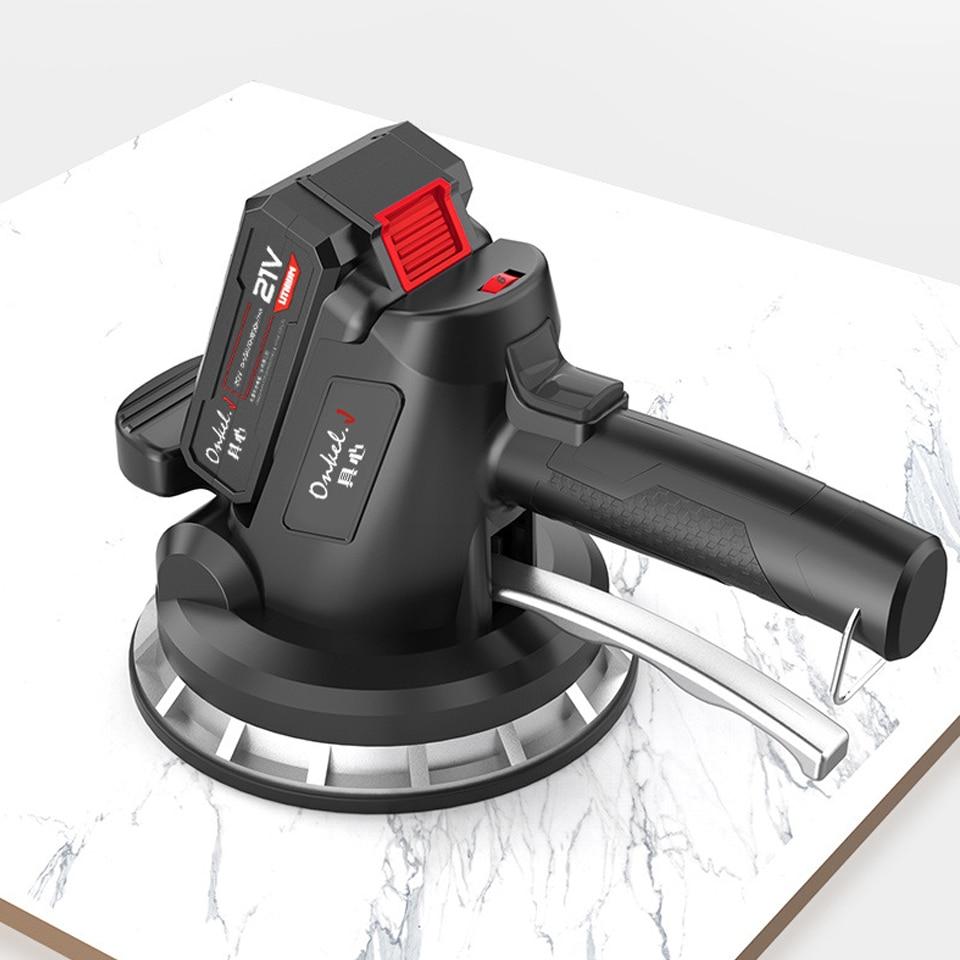21v Tiles Tools Tile Level Vibration Machine 320KG Suction For 200cm Tiles 6 Adjustable Positions Construction Tools 1 Battery