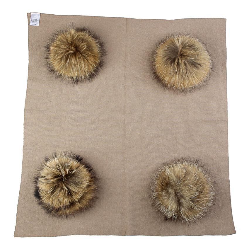Newborn Kids Baby Warm Wool Swaddling Blanket Travel Sleeping Blanket Bedding Swaddles Wrap With 20cm Real Fur Pompom