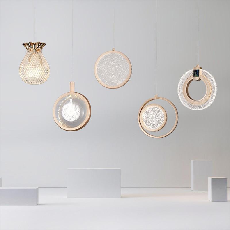 تصميم قلادة ضوء أريكة مصباح معلق Led مصابيح السقف المنزل الطعام الجداول إضاءة داخلية طاولة ركن لغرفة المعيشة