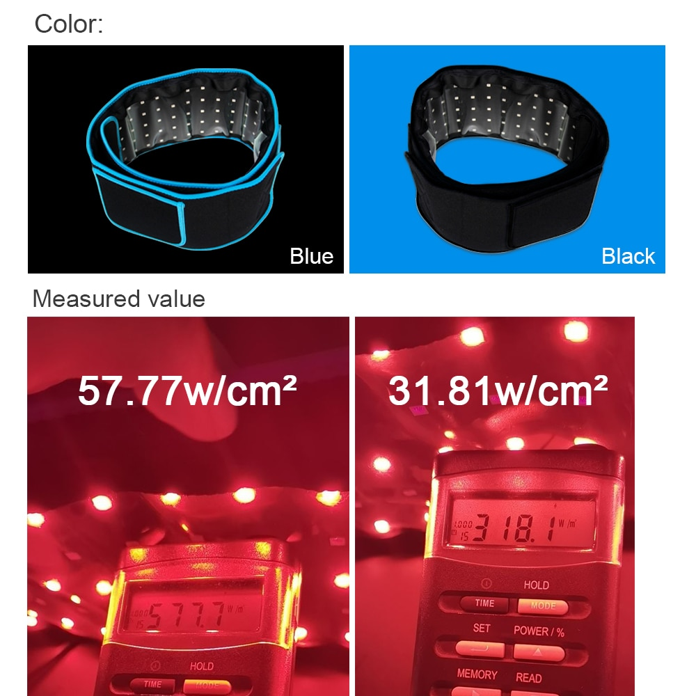 16W 660nm 850nm LED Red Light Therapy Near Infrared Light Therapy Devices Large Pads Wearable Wrap for Pain Relief at Home enlarge