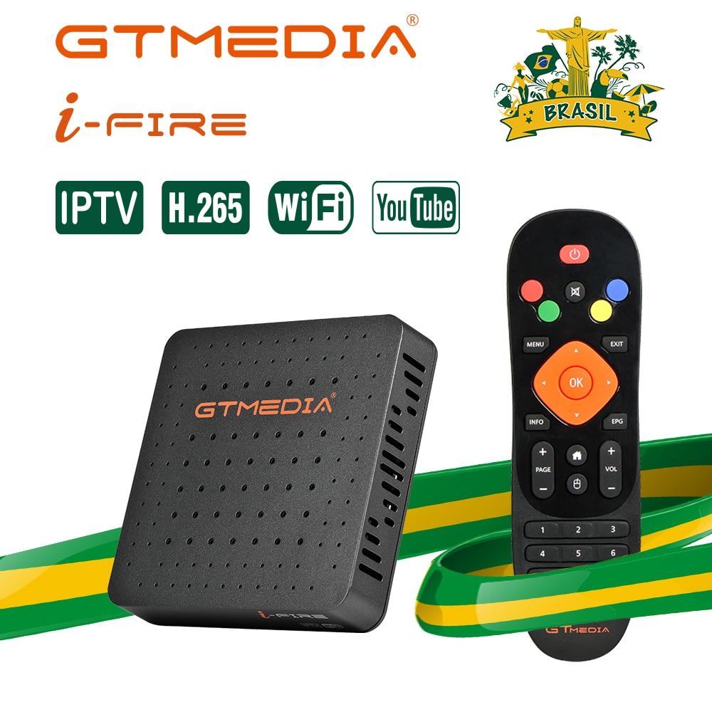 Brasil GTMEDIA del IFIRE IPTV TV Box 4K h.265 HDR caja STB Ultra HD WIFI soporte Xtream Youtube Set top BOX reproductor de medios de comunicación de Internet