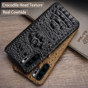 Phone Case For Huawei P20 P10 P30 lite Y9 Y6 P Smart 2019 Mate 9 10 20 Pro Crocodile Head texture Case For Honor 8 8X 9 10 Lite