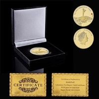 1918 collectible elizabeth ii we will remember them gold plated 1oz commemorative coin w luxury box display