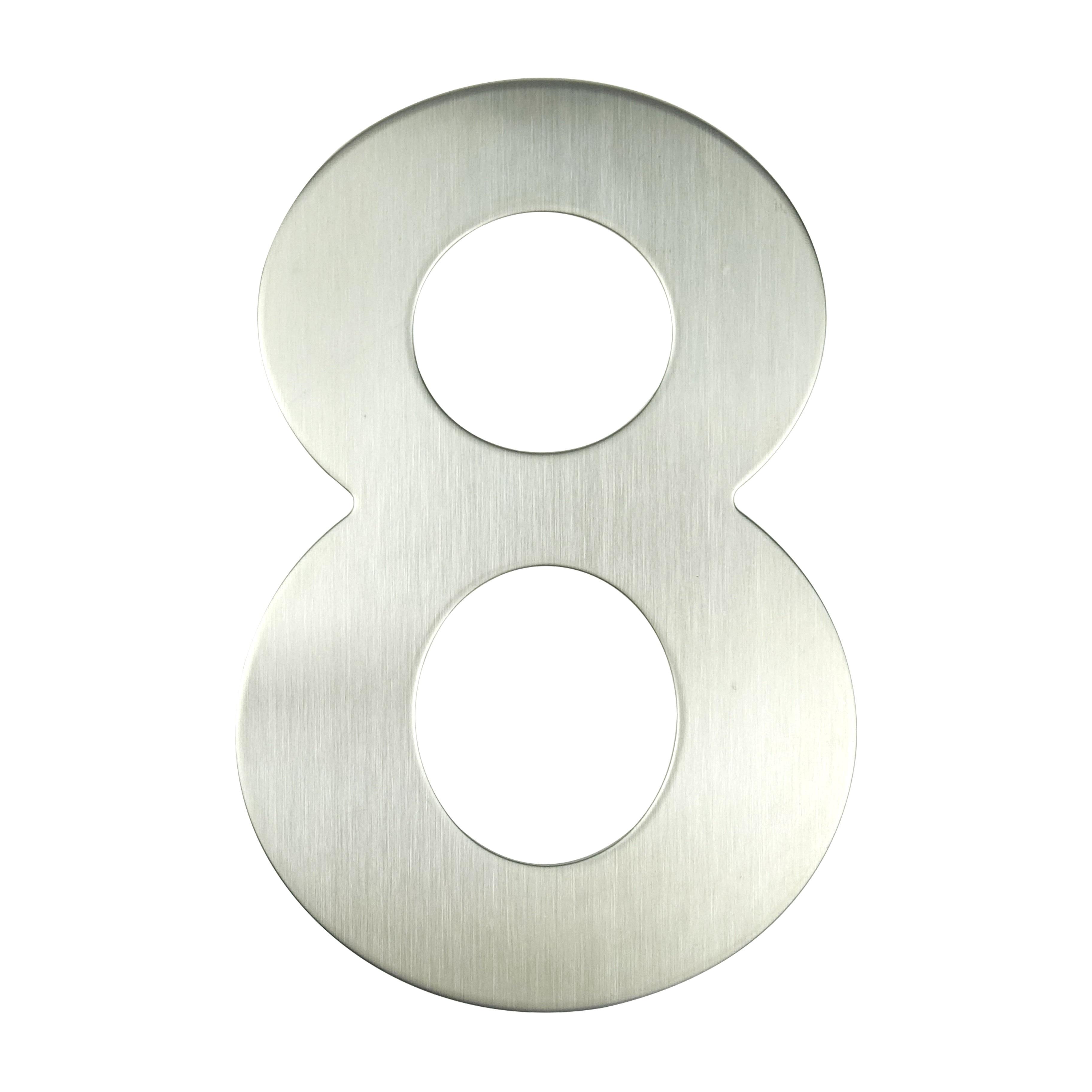 Número de la Casa de 15cm, señal #8 Huisnummer para exteriores, plata,...
