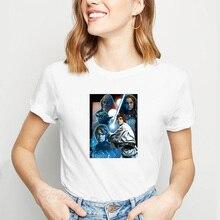 Star Wars Yoda dark vador Stormtroopers Luke Han Solo T-shirt femmes vêtements Boba Fett C3P2 espace TV série de films T-shirt femme