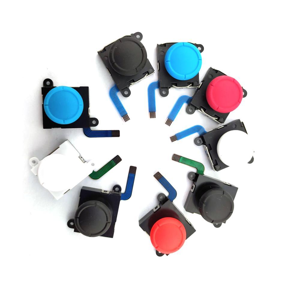 استبدال 100 قطعة عصا تحكم تناظرية ثلاثية الأبعاد العصي قطعة بديلة لمستشعر التبديل NS JoyCon تحكم أجزاء إصلاح أسود