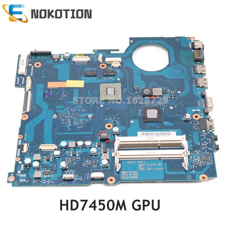NOKOTION BA92-07849A BA92-07849B BA41-01533A Para Samsung NP-RV515 HD7450M DDR3 RV515 laptop motherboard teste completo