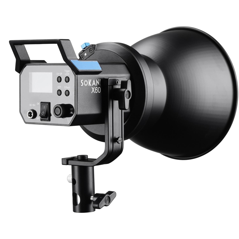 Sokani X60 Kit Version 2 v2 RGB LED Video Light 80W 5600K Outdoor Photography Daylight Lighting Adjust Brightness Bowens Mount
