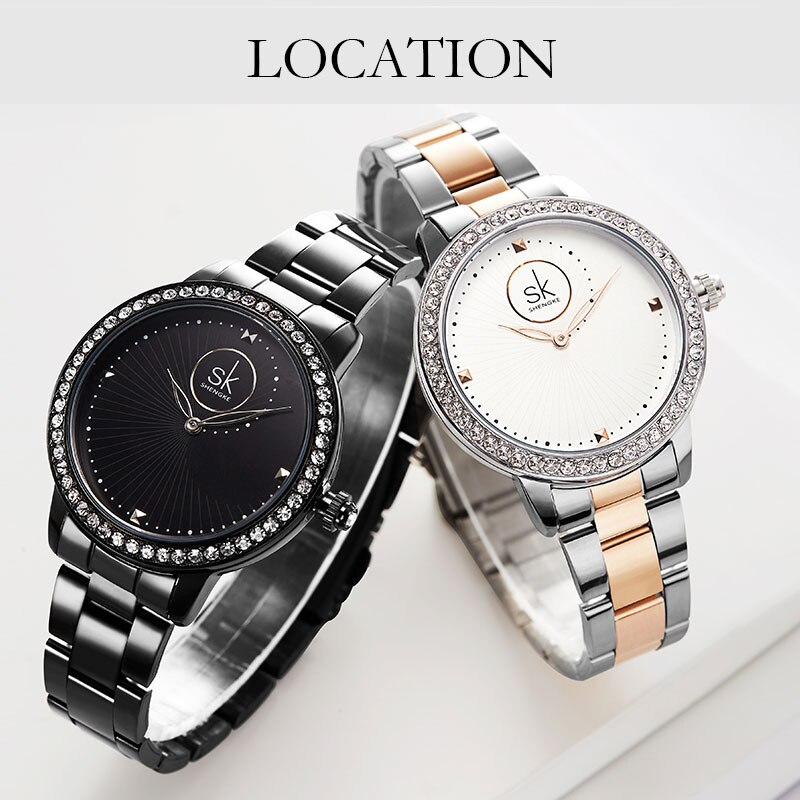 cheap yellow gold plated ladies watch luxury fashion brand stainless steel diamand wrist watch bracelet gifts for women watch Rose Gold Ladies Watch Luxury Womens Watch Japan Quartz Watches Bracelet Wrist Watch Movement High Quality Women Stainless Steel