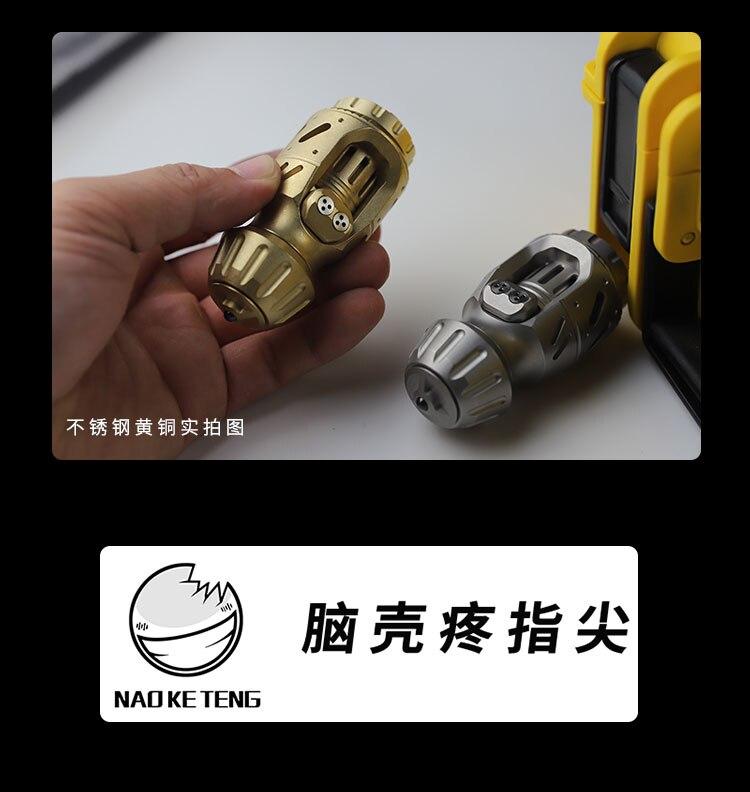 Old Nine Original EDC Boy 2.0 Egg Pushing Fingertip Gyro Brass Stainless Steel Decompression Smoking Cessation Toy Fidget Toys enlarge