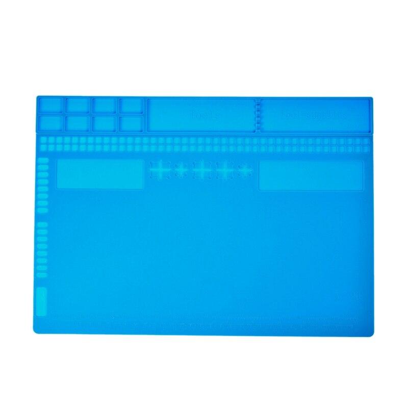 Almohadilla de soldadura de silicona aislante resistente al calor, plataforma de mantenimiento de alfombrilla de escritorio para herramientas de Estación de Reparación de soldadura de Bga, 35x25cm