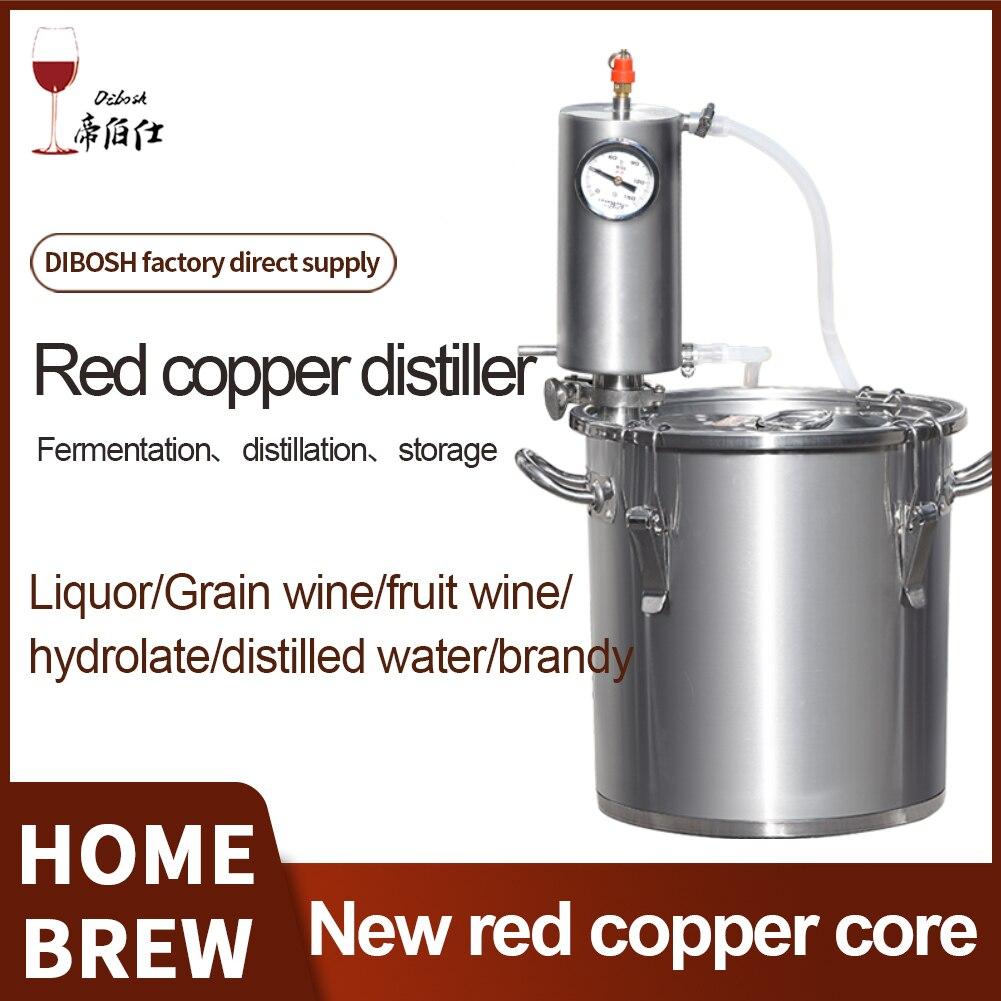 جديد النحاس الأحمر Moonshine لا يزال البيرة 12L/20L/33L المنزل تختمر الفودكا براندي ويسكي تقطير الكحول عدة