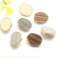 100 pcs special shaped resin metal combination buttons high end womens coat trench sewing buttons lrregular buttons 21 30mm