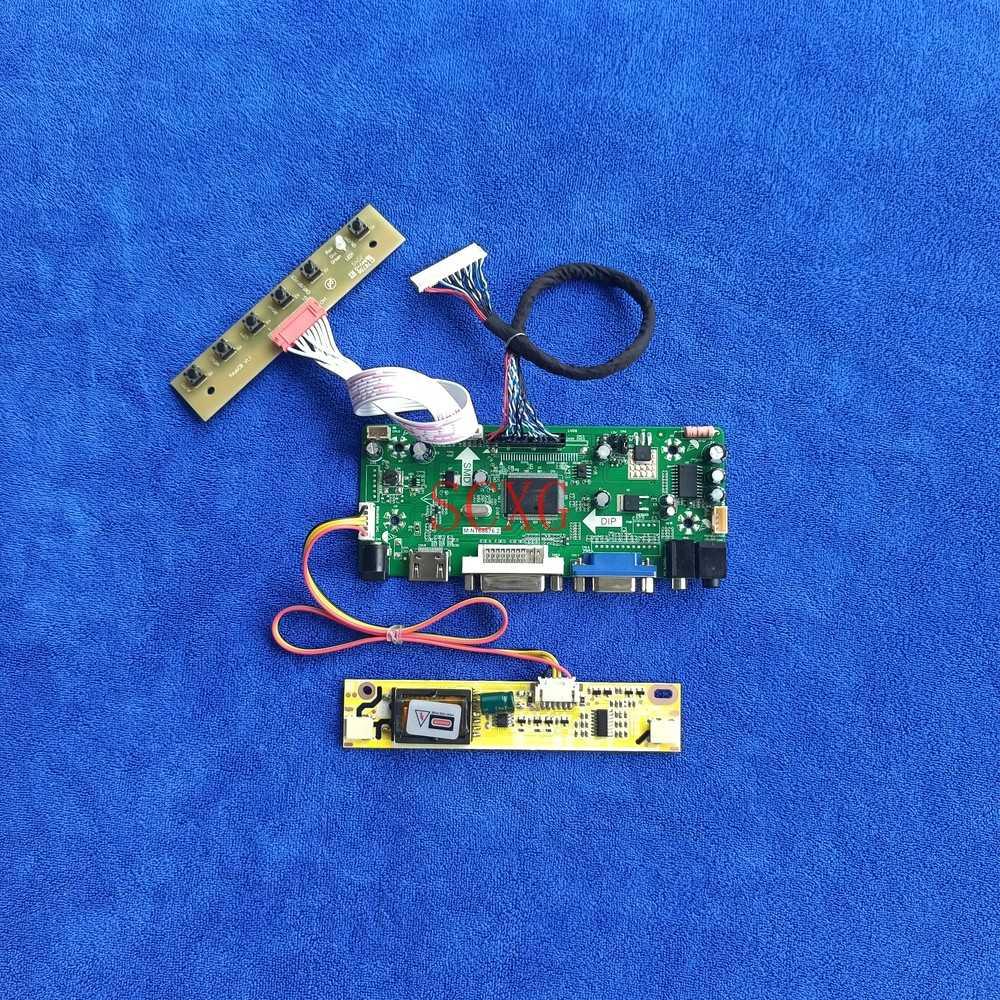 1920*1080 HDMI-متوافق VGA DVI ل M240HW01/LM230WF1/LTM230HT02/LTM230HT03 2CCFL بطاقة وحدة التحكم 30 دبوس LVDS عدة شاشات كريستال بلورية