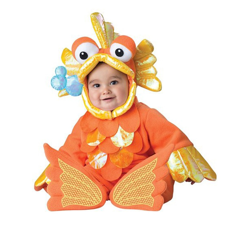 0-3Years Baby Cartoon Animals Fish Rompers Kids Birthday Anniversary Party Role Play Dress Up Outfit Halloween Cosplay Costume