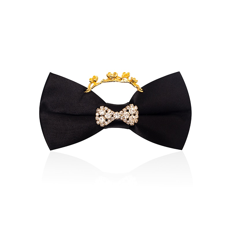 High Quality 2020 New Fashion Men's Bow Ties Double Fabric Ring Bowtie Party Host Wedding Banquet Butterfly Tie with Gift Box