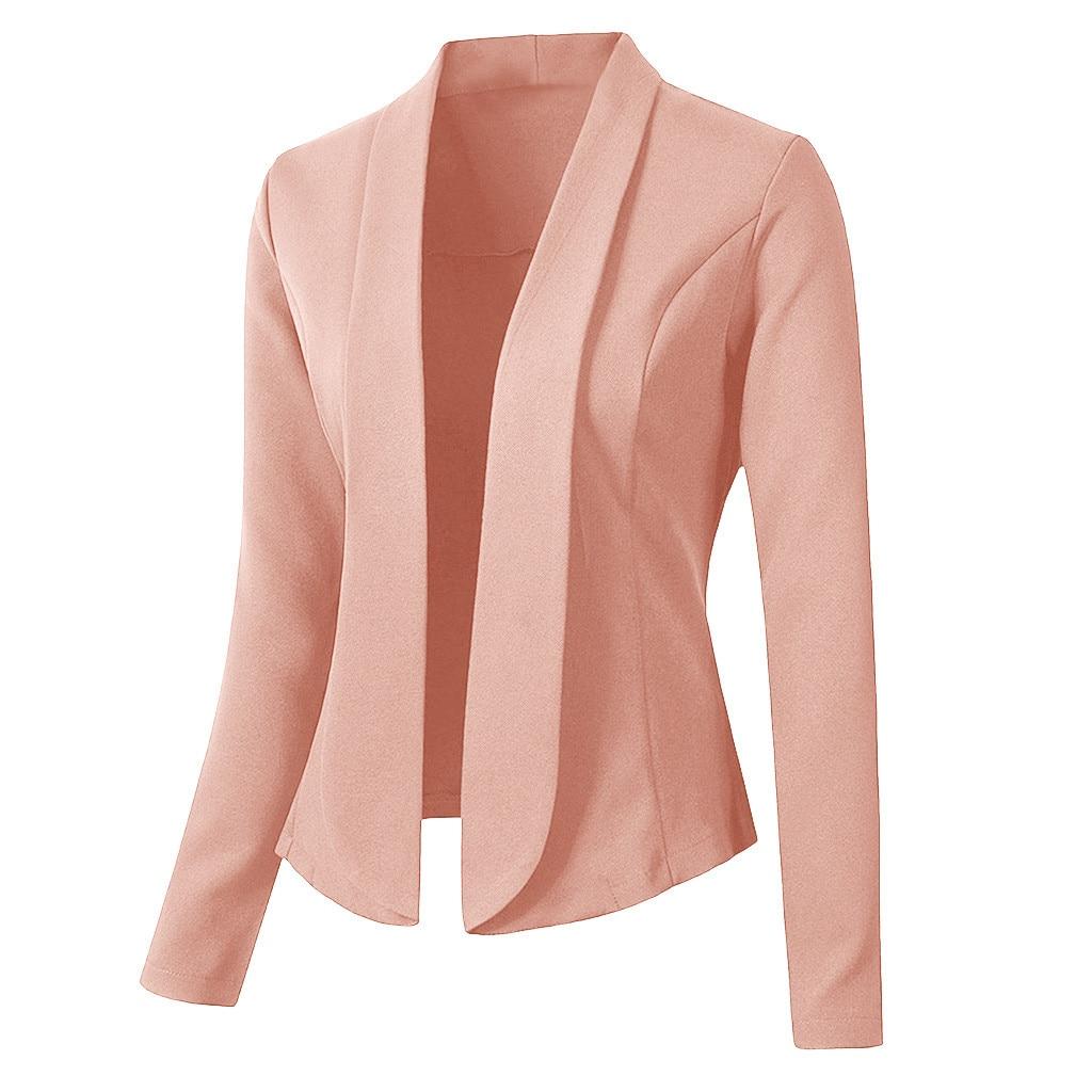 Chaqueta JAYCOSIN, Chaqueta de punto para mujer, chaqueta de manga larga, chaqueta de oficina para mujer, abrigo de otoño 2019, elegante vestido ajustado, blazers de tweed