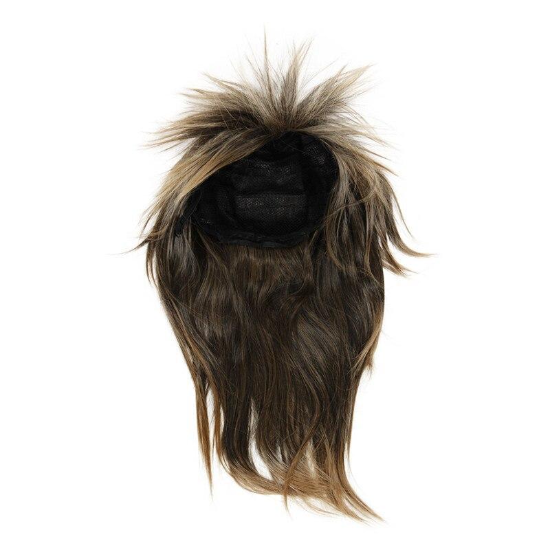 80s señoras GLM PUNK ROCK ROCKER CHICK TINA TURNER peluca para un disfraz de disfraces-marrón negro
