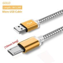 10mm USB Micro Cable para Blackview BV6000/BV5000/BV4000/Geotel G1/AGM X1/DOOGEE S60/S60 Lite/Doogee S30 adaptador de Cable de cargador